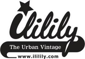 ILILILY THE URBAN VINTAGE WWW.ILILILY.COM