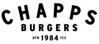 CHAPPS BURGERS DFW 1984 TEX