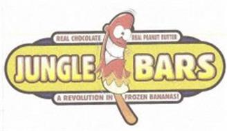 JUNGLE BARS REAL CHOCOLATE REAL PEANUT BUTTER A REVOLUTION IN FROZEN BANANAS!