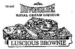 DELUXE DEVONSHIRE ROYAL CREAM LIQUEUR LUSCIOUS BROWNIE