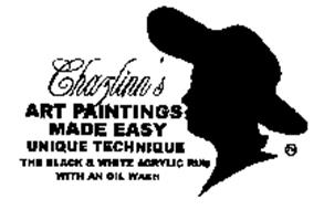 CHAZLINN'S ART PAINTING MADE EASY UNIQUE TECHNIQUE THE BLACK & WHITE ACRYLIC RUB WITH AN OIL WASH
