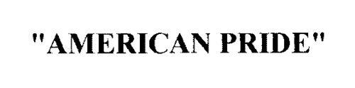 """AMERICAN PRIDE"""