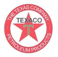 T TEXACO · THE TEXAS COMPANY · PETROLEUM PRODUCTS