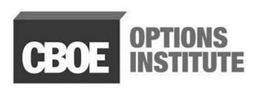 CBOE OPTIONS INSTITUTE