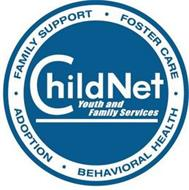 CHILDNET YOUTH AND FAMILY SERVICES FAMILY ·   SUPPORT  ·  FOSTER CARE  · BEHAVIORAL HEALTH ·  ADOPTION
