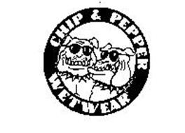 Chip pepper wetwear trademark of chip foster inc for Chip and pepper t shirts
