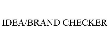 IDEA/BRAND CHECKER