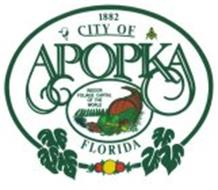 1882 CITY OF APOPKA FLORIDA INDOOR FOLIAGE CAPITAL OF THE WORLD