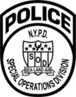 POLICE N.Y.P.D. SOD SEA · LAND · AIR SPECIAL OPERATIONS DIVISION