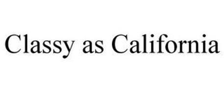 CLASSY AS CALIFORNIA