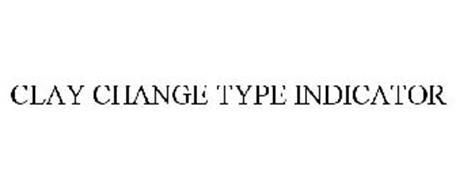 CLAY CHANGE TYPE INDICATOR