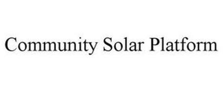 COMMUNITY SOLAR PLATFORM