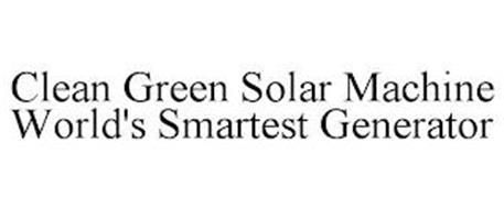 CLEAN GREEN SOLAR MACHINE WORLD'S SMARTEST GENERATOR