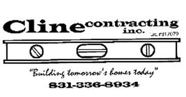 """CLINE CONTRACTING INC. LIC. #817079 """"BUILDING TOMORROW'S HOMES TODAY"""" 831-336-8934"""