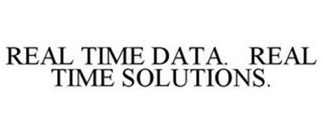 REAL TIME DATA. REAL TIME SOLUTIONS.