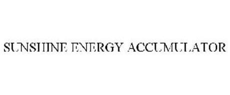 SUNSHINE ENERGY ACCUMULATOR
