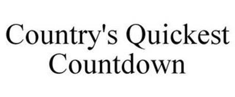COUNTRY'S QUICKEST COUNTDOWN