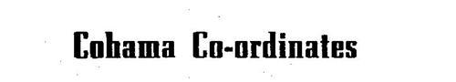 COHAMA CO-ORDINATES