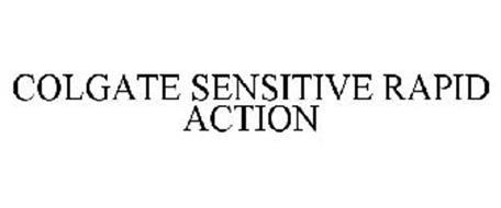 COLGATE SENSITIVE RAPID ACTION