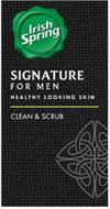 IRISH SPRING SIGNATURE FOR MEN HEALTHY LOOKING SKIN CLEAN & SCRUB