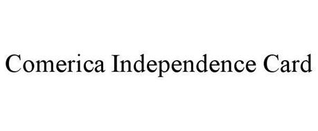 Comerica independence card trademark of comerica bank for Comerica business credit card