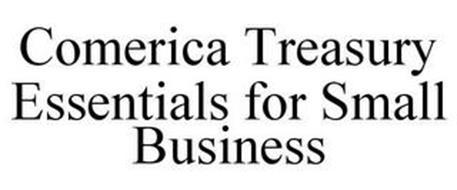 COMERICA TREASURY ESSENTIALS FOR SMALL BUSINESS