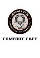 COMFORT CAFE PREMIUM COFFEE · FINE TEA · REAL FOOD