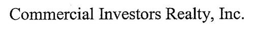 COMMERCIAL INVESTORS REALTY, INC.