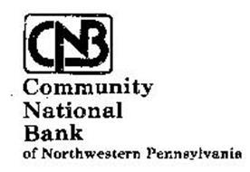 CNB COMMUNITY NATIONAL BANK OF NORTHWESTERN PENNSYLVANIA