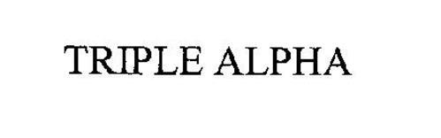 TRIPLE ALPHA