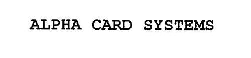 ALPHA CARD SYSTEMS