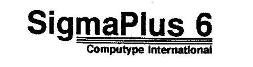 SIGMAPLUS 6 COMPUTYPE INTERNATIONAL