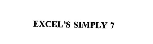 EXCEL'S SIMPLY 7
