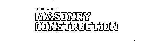 THE MAGAZINE OF MASONRY CONSTRUCTION