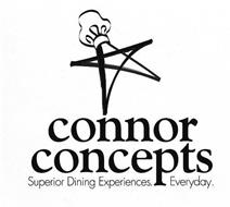 CONNOR CONCEPTS SUPERIOR DINING EXPERIENCES. EVERYDAY.