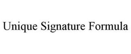 UNIQUE SIGNATURE FORMULA
