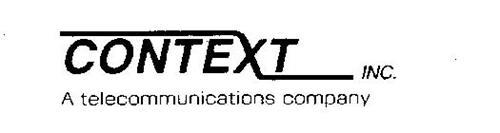 CONTEXT INC. A TELECOMMUNICATIONS COMPANY
