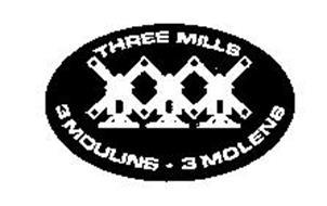 THREE MILLS 3 MOULINS 3 MOLENS