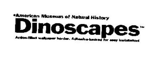 AMERICAN MUSEUM OF NATURAL HISTORY DINOSCAPES ACTION-FILLED WALLPAPER BORDER. ADHESIVE-BACKED FOR EASY INSTALLATION