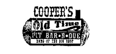 COOPER'S OLD TIME PIT BAR-B-QUE HOME OF THE BIG CHOP
