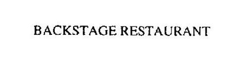 BACKSTAGE RESTAURANT