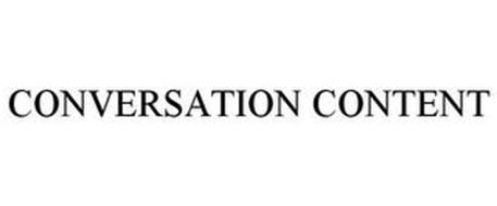 CONVERSATION CONTENT