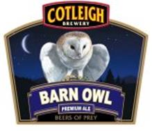 BARN OWL COTLEIGH BREWERY PREMIUM ALE BEERS OF PREY