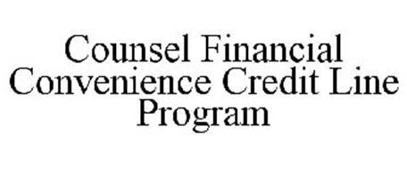 COUNSEL FINANCIAL CONVENIENCE CREDIT LINE PROGRAM
