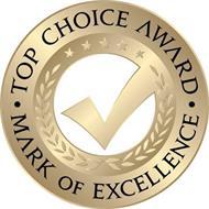 TOP CHOICE AWARD · MARK OF EXCELLENCE ·