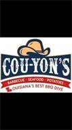 COU-YON'S BARBECUE SEAFOOD POTATOES LOUISIANA'S BEST BBQ DIVE