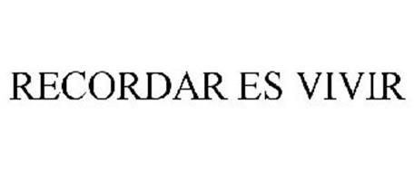 RECORDAR ES VIVIR Trademark of Covex Farma, S.L.. Serial ...