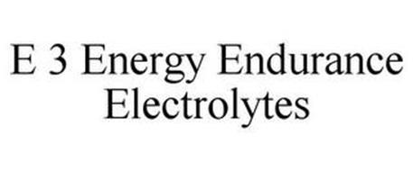 E 3 ENERGY ENDURANCE ELECTROLYTES