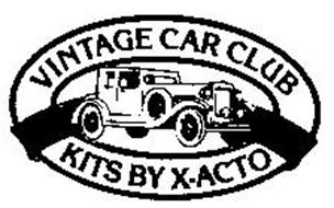 VINTAGE CAR CLUB KITS BY X-ACTO