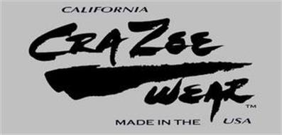 CALIFORNIA CRAZEE WEAR MADE IN THE USA